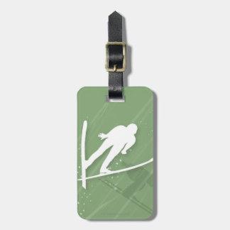 Two Men Ski Jumping Bag Tag