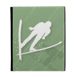 Two Men Ski Jumping iPad Folio Cases