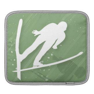 Two Men Ski Jumping iPad Sleeve