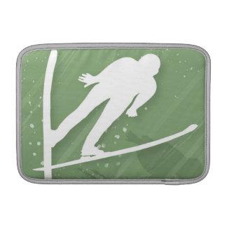 Two Men Ski Jumping MacBook Air Sleeve