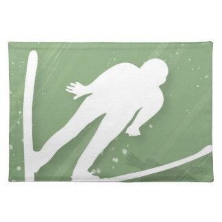 Two Men Ski Jumping Placemats