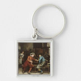 Two Men Talking in a Tavern Keychain