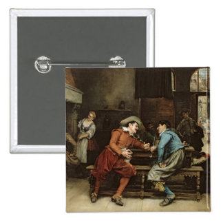 Two Men Talking in a Tavern Pinback Button