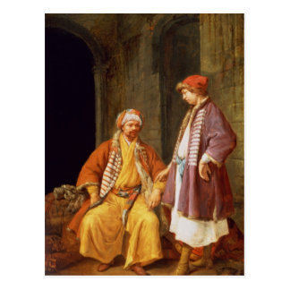 Two Merchants Conversing Postcard