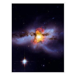 Two Merging Black Holes in Galaxy NGC 6240 Postcard