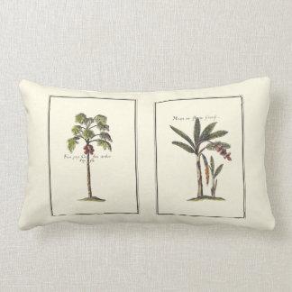 Two Miniature Framed Palm Trees Lumbar Pillow