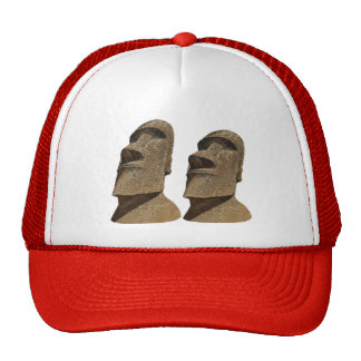 Two Moai - Easter Island - Clothes Trucker Hat