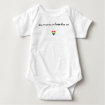 Two Mommies Are Better Than One Baby Shirt