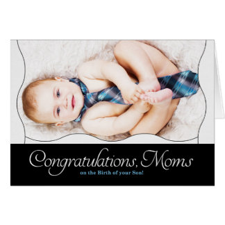 Two Moms - Congratulations Birth of a Son Card