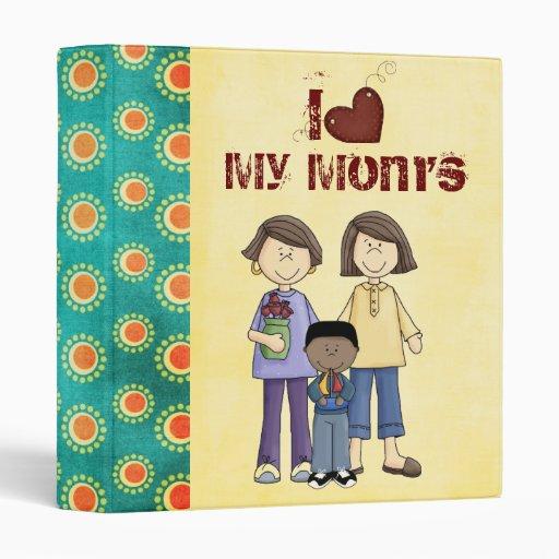 two moms scrapbook/ photo album vinyl binders