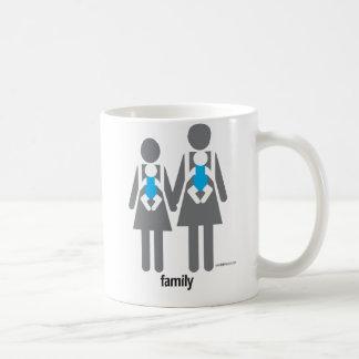 Two Moms, Two Sons Coffee Mug