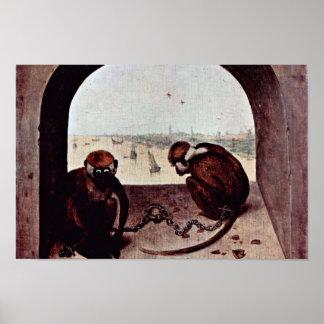 Two Monkeys By Bruegel D. Ä. Pieter (Best Quality) Posters