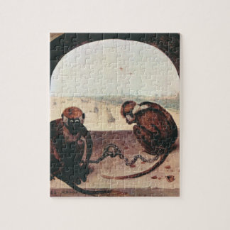Two monkeys by Pieter Bruegel Jigsaw Puzzle