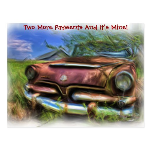 Two More Payments Postcard