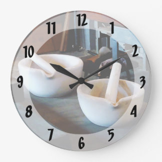 Two Mortars and Pestles in Lab Clock