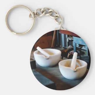 Two Mortars and Pestles in Lab Keychain