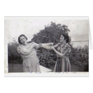TWO MOTHERS FIGHTING GREETING CARDS