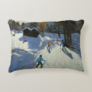 Two mountain huts Pleney Morzine Accent Pillow