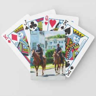 Two Mounted Police Bicycle Playing Cards