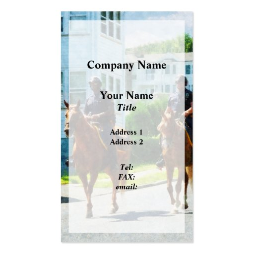 Two Mounted Police Business Card