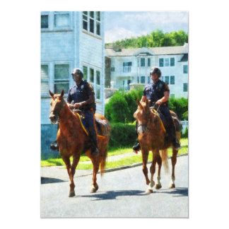 Two Mounted Police Custom Invite