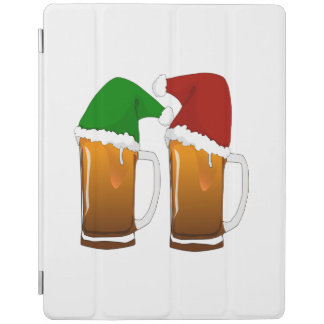 Two Mugs of Christmas Beer Cheer iPad Cover