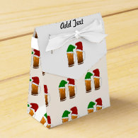 Two Mugs of Christmas Beer Cheer Party Favor Box