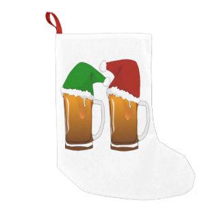 Two Mugs of Christmas Beer Cheer Small Christmas Stocking