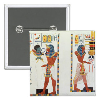 Two Murals from the Tombs of the Kings of Thebes, Pinback Button