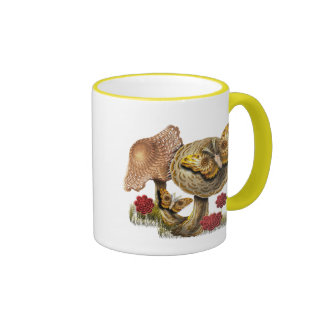 Two Mushrooms And Two Moths Coffee Mugs
