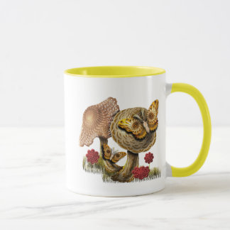 Two Mushrooms And Two Moths Mug