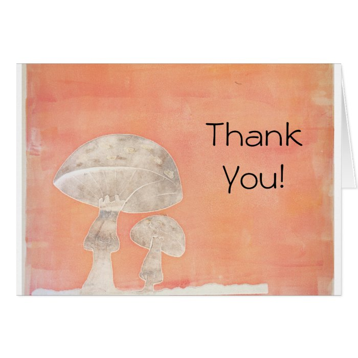Two Mushrooms Card