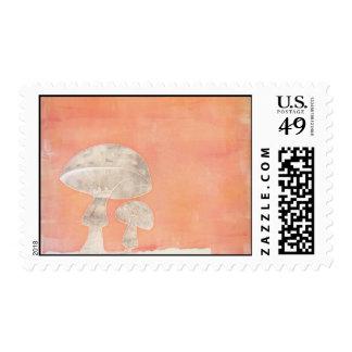 Two Mushrooms Stamp