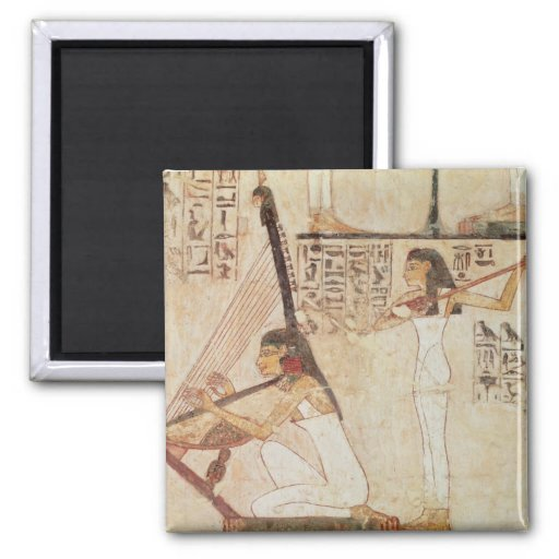 Two Musicians, from the Tomb of Rekhmire Refrigerator Magnets