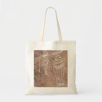 Two Mysterious Figures Rock Art Tote