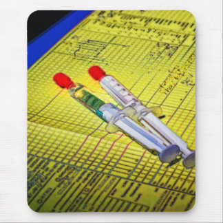 Two Needles on Medical Chart Mouse Pad