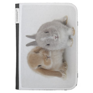 Two Netherland Dwarf and Holland Lop bunnies Kindle Cases