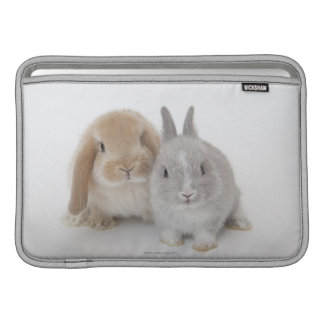 Two Netherland Dwarf and Holland Lop bunnies Sleeves For MacBook Air