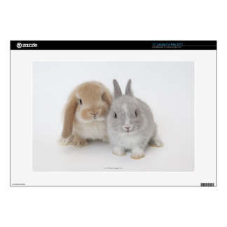 """Two Netherland Dwarf and Holland Lop bunnies Skin For 15"""" Laptop"""