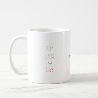 Two Network Hearts Coffee Mug