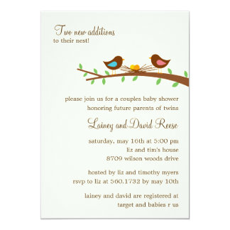 Two New Eggs Twins Baby Shower Invitation