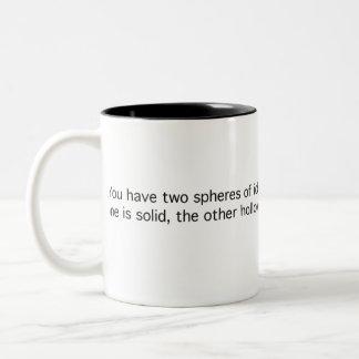 Two Nigh-Identical Spheres Two-Tone Coffee Mug