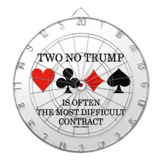 Two No Trump Is Often The Most Difficult Contract Dartboard With Darts