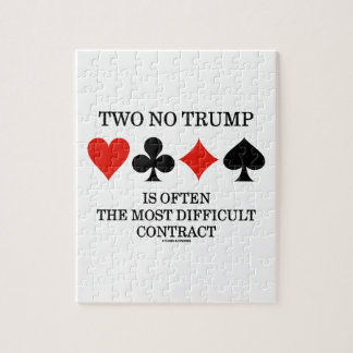 Two No Trump Is Often The Most Difficult Contract Puzzles