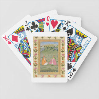 Two nobles seated in a landscape, from the Small C Bicycle Playing Cards