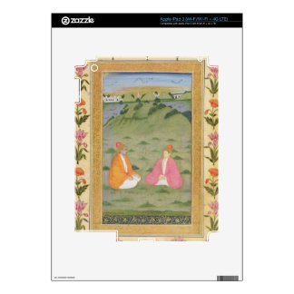 Two nobles seated in a landscape, from the Small C Skin For iPad 3