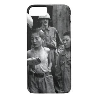 Two North Korean boys_War Image iPhone 8/7 Case