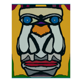 Two Nose Abstract Face Poster