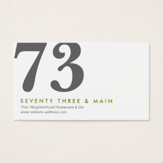 TWO NUMBERS LOGO II Designer Business Card