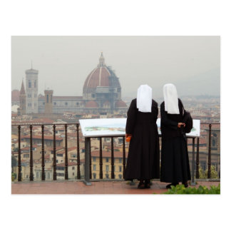 Two Nuns Florence Italy Post Card